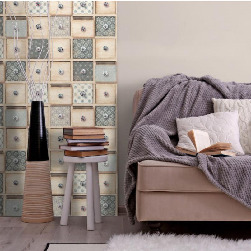 Tapet retro cu sertare din mozaic koomood 2021