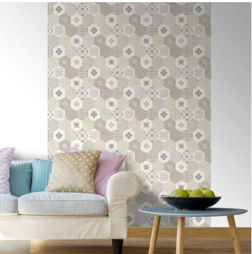 Tapet ceramica hexagonala bej koomood 2021