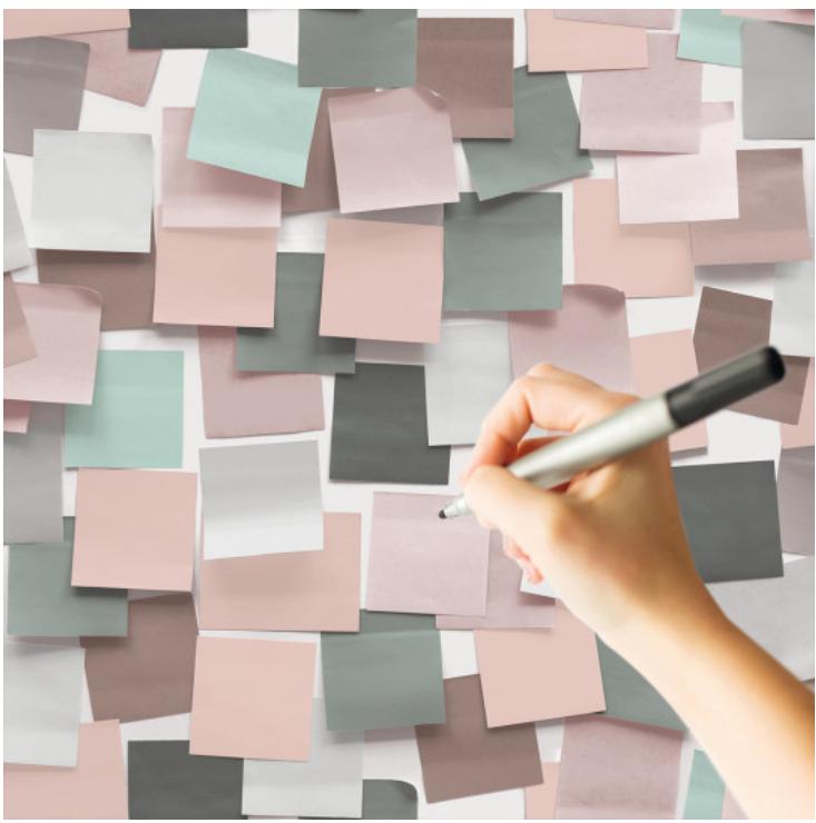 Tapet post-it pe care se poate scrie roz koomood 2021