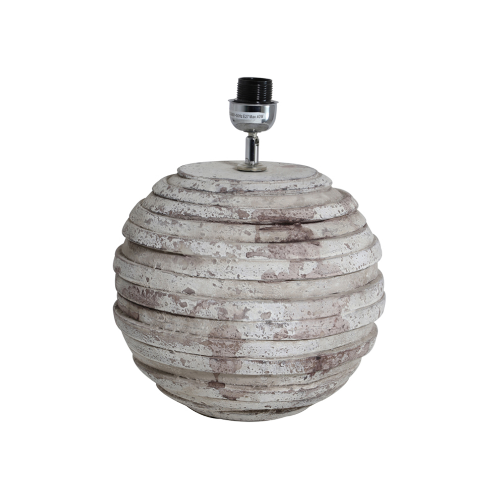 Baza lampa AWASA Gri antic - mare Light & Living