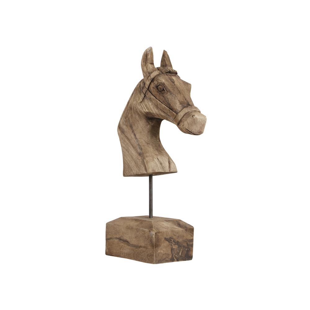 Ornament HORSE Lemn erodat Light & Living