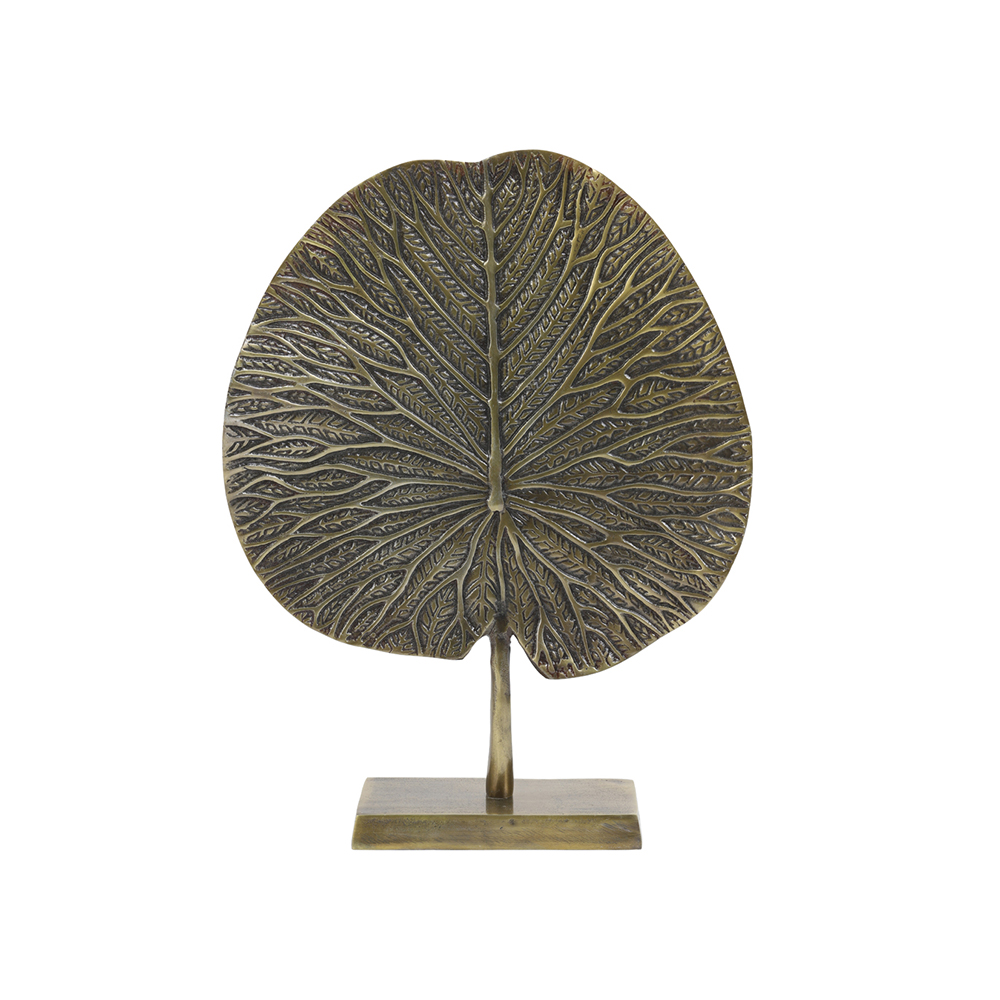 Ornament LEAF Bronze antic