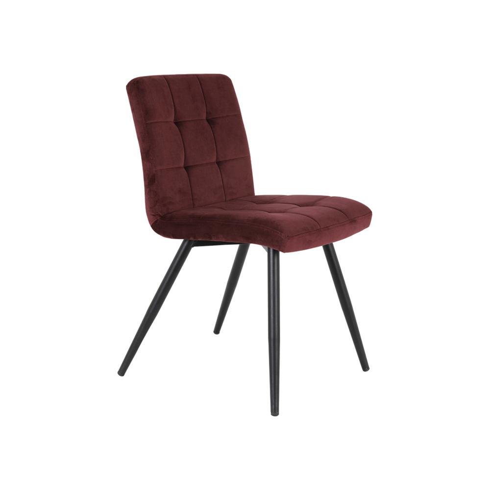 Scaun dining OLIVE Catifea bordo Light & Living