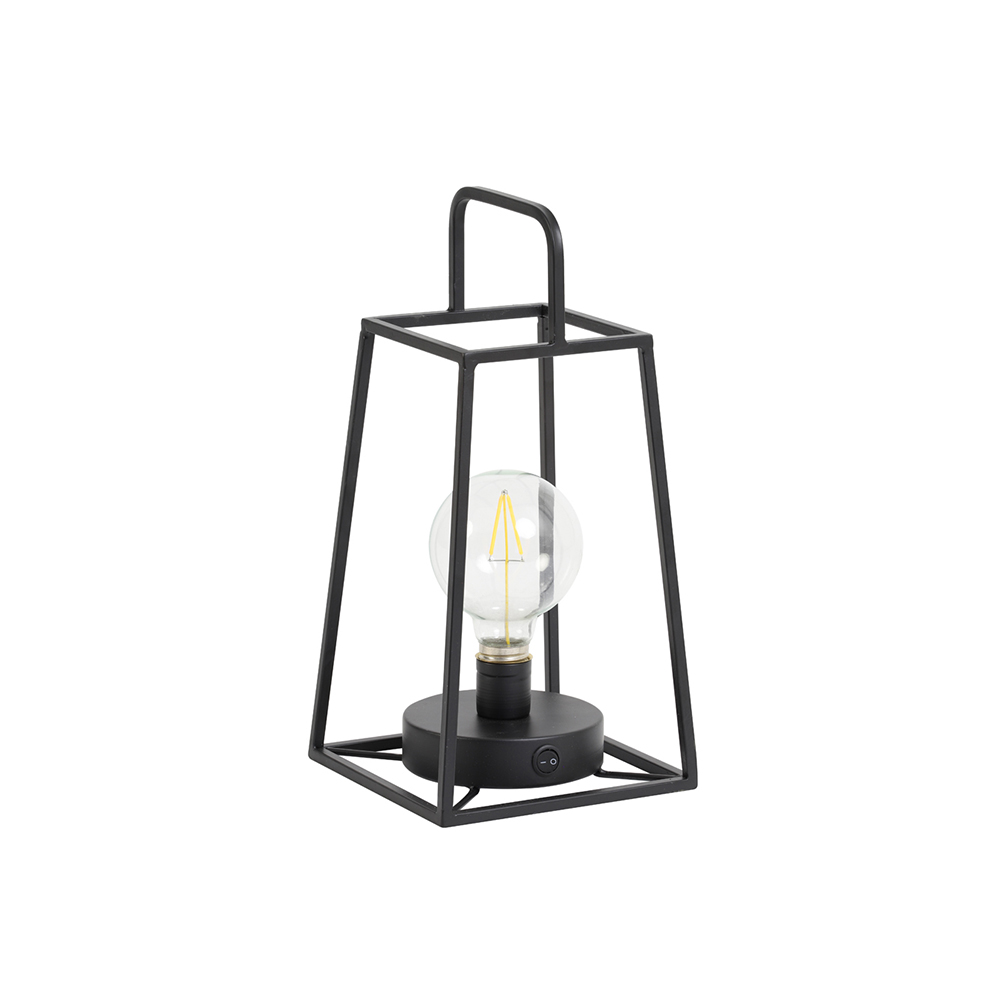 Veioza felinar LED FAUVE Negru mat Light & Living