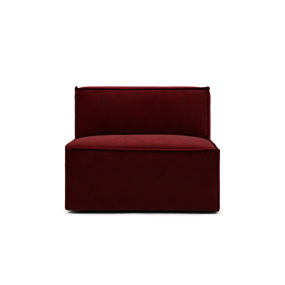 Modul Central Canapea 95 cm THE JAGGER Catifea Bordo Riviera Maison